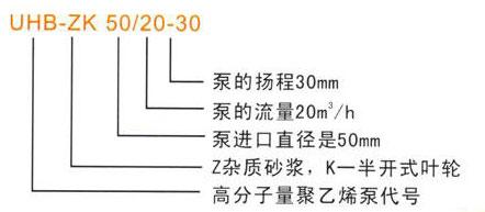 UHB-ZK耐腐耐磨砂漿泵